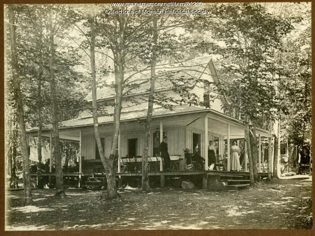Knight's Cottage, Lake Hebron, Monson, ca. 1900