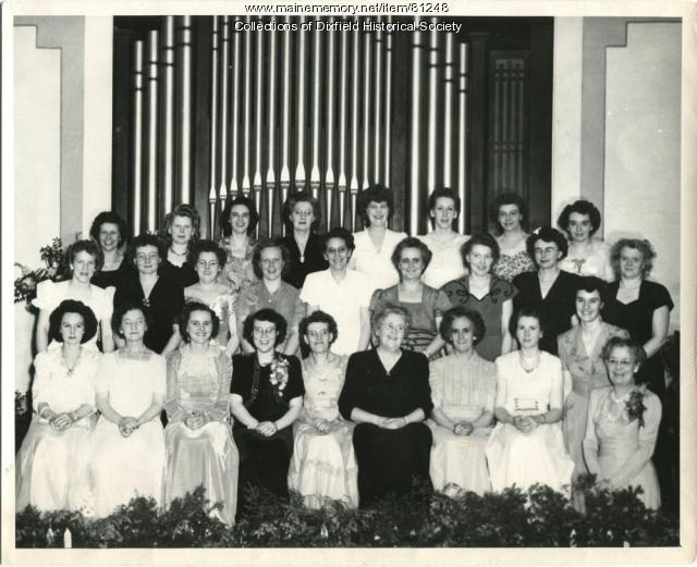 Community Women's Chorus, Dixfield, 1947