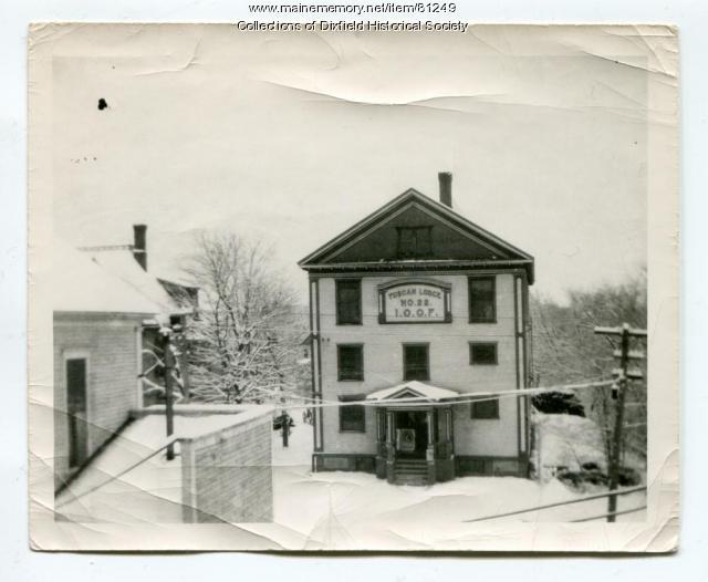 Tuscan Opera House, Main Street, Dixfield, ca. 1930s