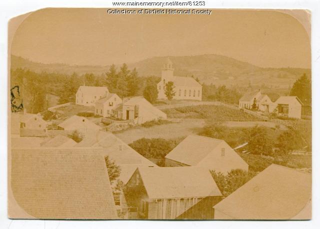 The Church on the Hill, Dixfield, ca. 1855