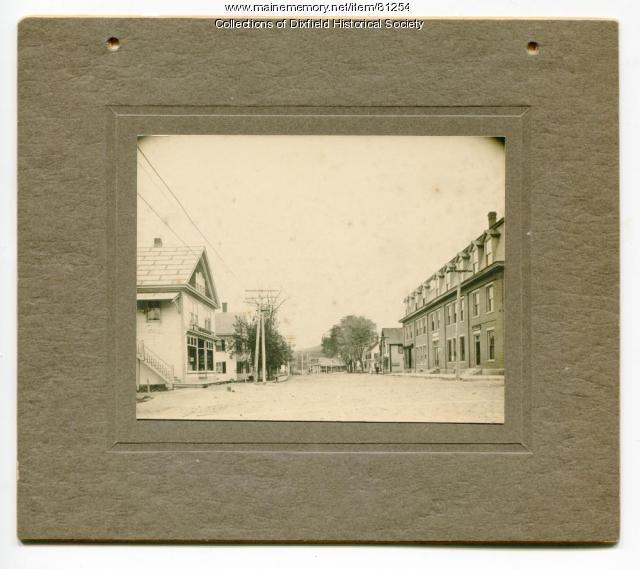 Upper Main Street, Dixfield, ca.1910