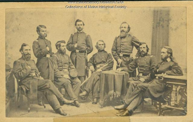 Officers, 13th Maine Infantry, ca. 1862