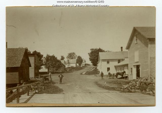St. Albans Village, Looking West, 1895