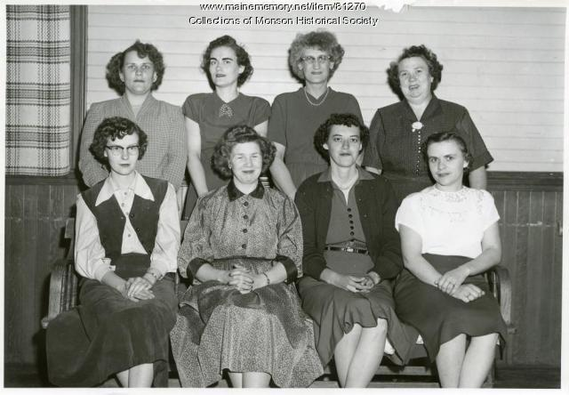 American Legion Auxiliary, Monson, ca. 1950