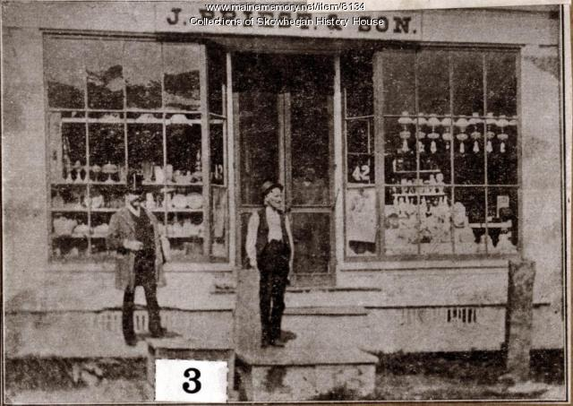 Sampson's corner of long ago, Skowhegan, ca. 1890