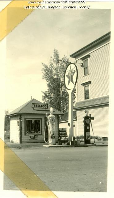 Texaco Station, Main Street, Bridgton, ca. 1938