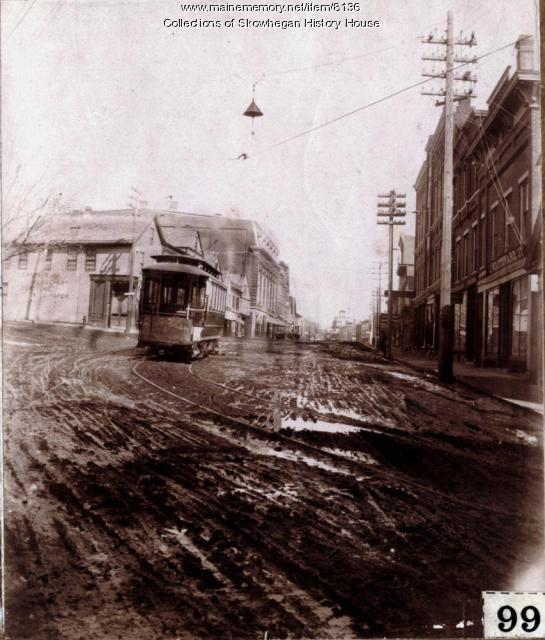 Water Street, Skowhegan, ca. 1900