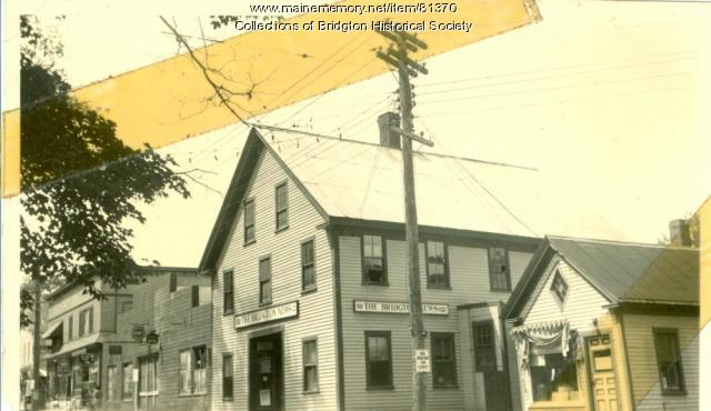 Bridgton News Building, Main Street, Bridgton, ca. 1938