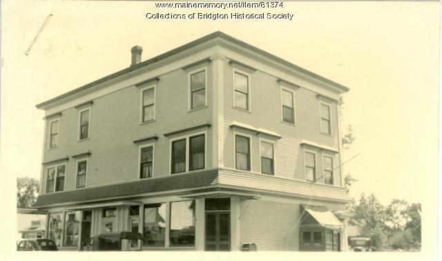 Knights of Pythias Block, Bridgton, ca. 1938