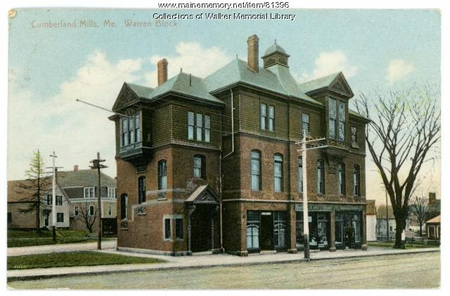 The Warren Block, Westbrook, ca. 1900