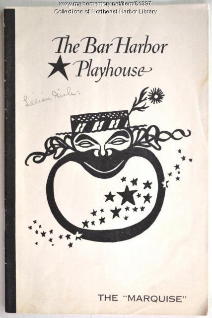 Bar Harbor Playhouse Program, ca. 1950