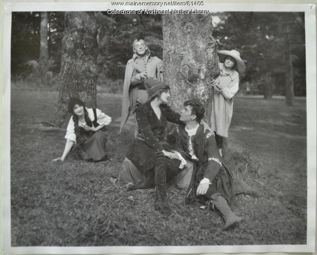 Group of Players in Costume, 1919