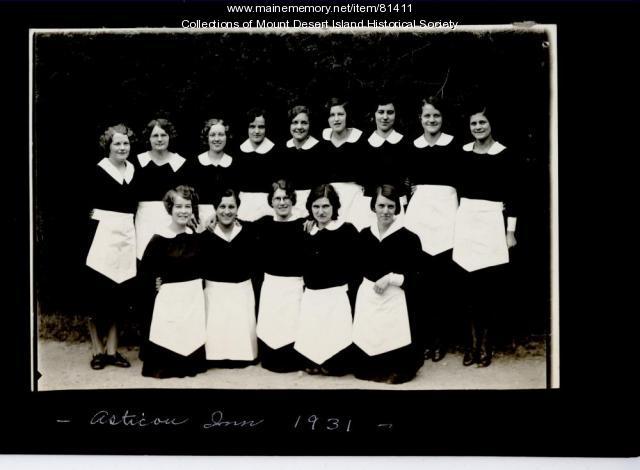 Asticou Inn Staff, Northeast Harbor, ca. 1931