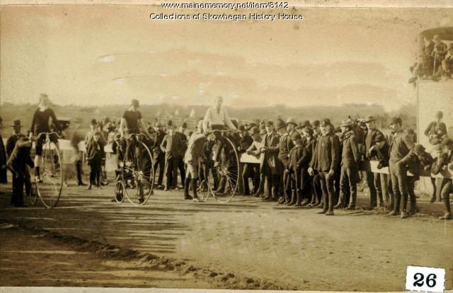 Start of Bicycle Race, Fairfield, 1887