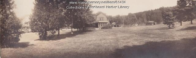 Rose Lane and Clover Cottage - Asticou Way Panorama Circa 1935