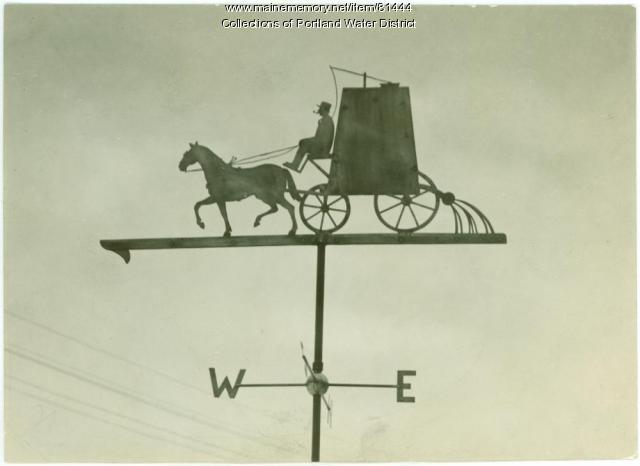Water District weathervane, Portland, ca. 1928