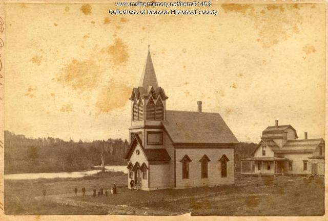 Swedish Lutheran Church, Monson, ca. 1890