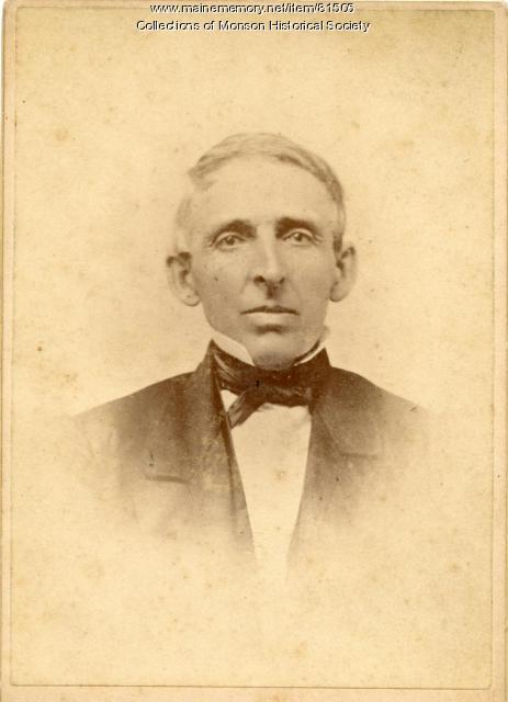 Rev. Dudley P. Bailey, Monson, ca. 1870