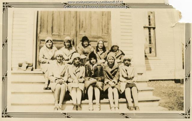 Baptist Church Sunday School Class, Monson, 1931