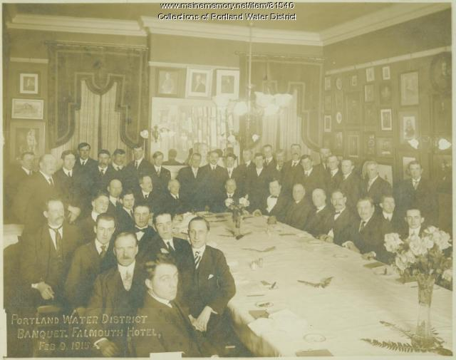 Portland Water District banquet, 1915