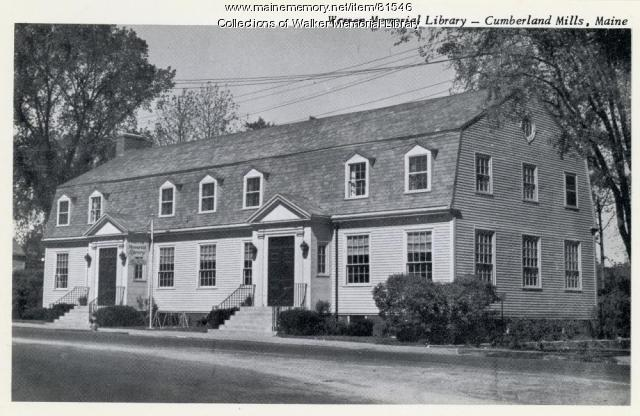 Warren Memorial Library, Westbrook, ca. 1950