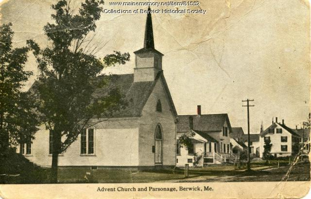 Advent Church and Parsonage, Berwick, ca. 1900