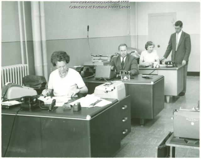 Portland Water District Casco Street office, 1964