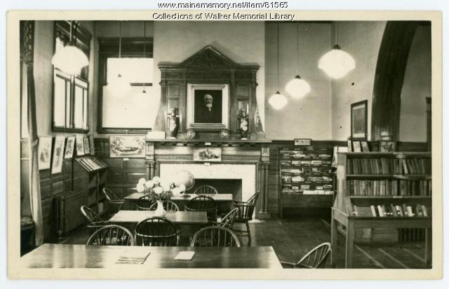 Walker Memorial Library Reading Room, Westbrook, 1943