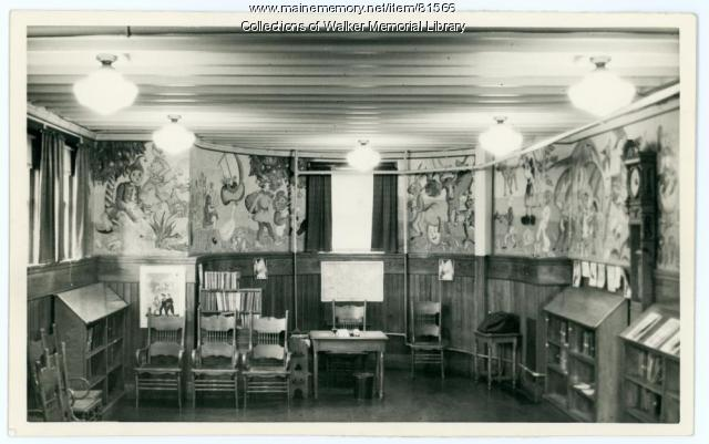 Walker Memorial Library Children's Room, Westbrook, 1943