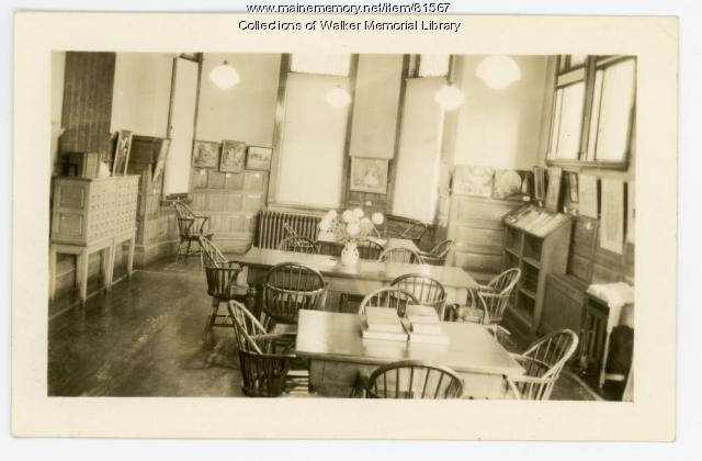 Walker Memorial Library, Westbrook, 1943