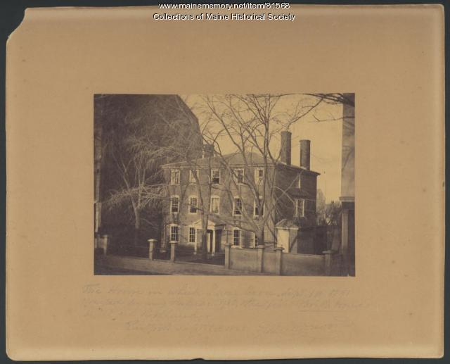 Wadsworth house, Portland, ca. 1868