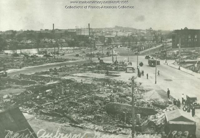 Ruins of New Auburn Fire, 1933