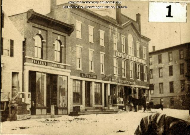 West side, Madison Avenue, Skowhegan, ca. 1900