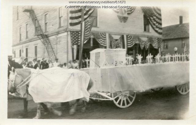 Monson Centennial Parade Auxiliary Float, Monson, 1922
