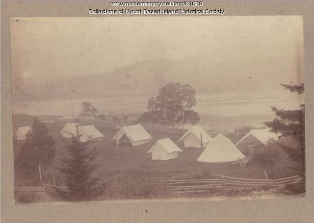 Champlain Society Camp Pemetic, Mount Desert Island, 1881