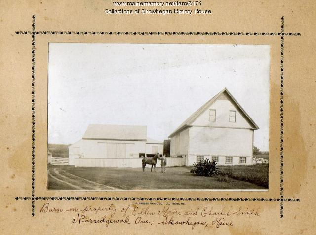 Smith barn, Skowhegan, ca. 1890