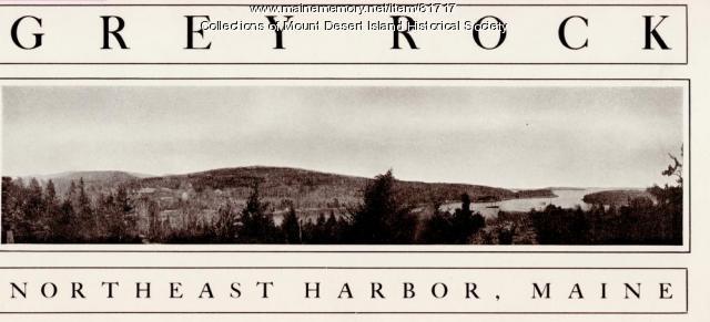 Brochure for the Grey Rock Inn, Northeast Harbor, ca. 1950