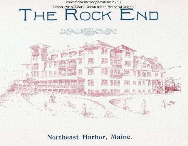 Brochure for Rock End Hotel, Northeast Harbor, ca. 1910