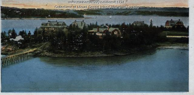Postcard View from Rock End Hotel, Northeast Harbor, ca. 1910
