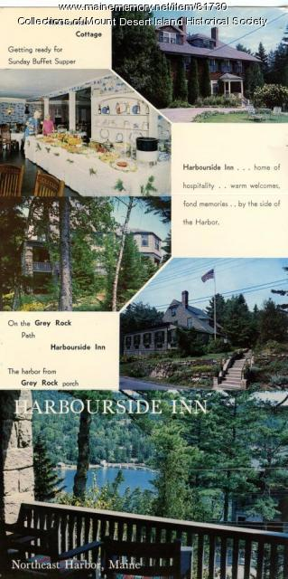 Harbourside Inn Flyer, Northeast Harbor, ca. 1955