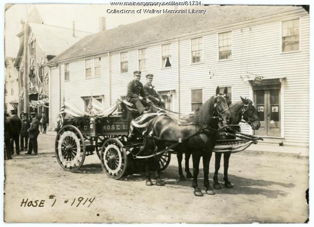 Westbrook Fire Department, 1914