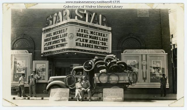 W.W.II Rubber drive at the Star Theater, Westbrook, 1943
