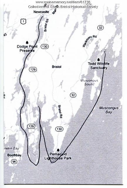 Map of Pemaquid Peninsula