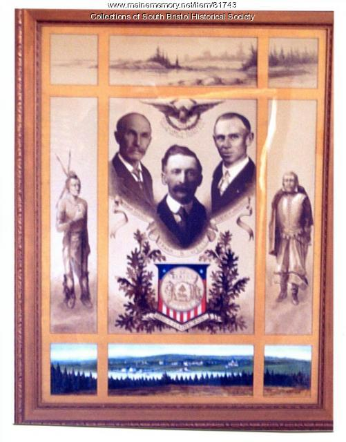 South Bristol's First Three Selectmen, 1915.