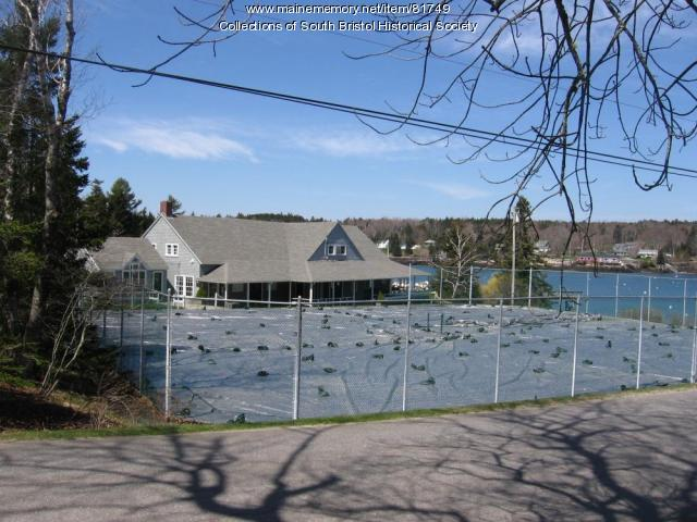 The CCIA Clubhouse and tennis courts, looking northwest.