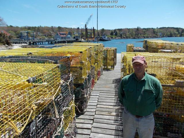 Lobster traps ready to be put out, South Bristol 2013