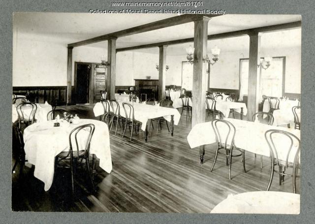 Asticou Inn dining room, Northeast Harbor, ca. 1905