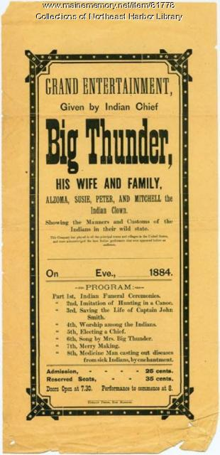 "Poster for Frank ""Big Thunder"" Loring, 1884"