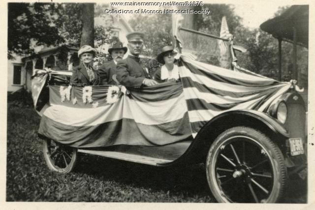 Centennial Parade Float for GAR & WRC, Monson, 1922