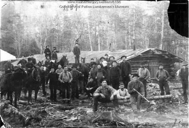 Woods Crew and Horses at Camp